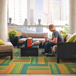 Carpet tile is funky and fresh